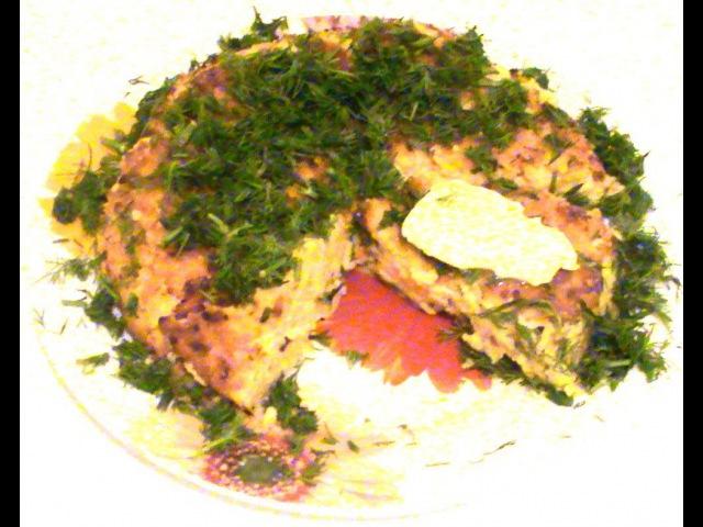 Творожная запеканка с манкой и овощами. Cheesecake with semolina and vegetables.