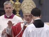 Патриарх и Папа читают символ веры вместе.Совместная молитва Варфоломея и папы римского, Антихристы.