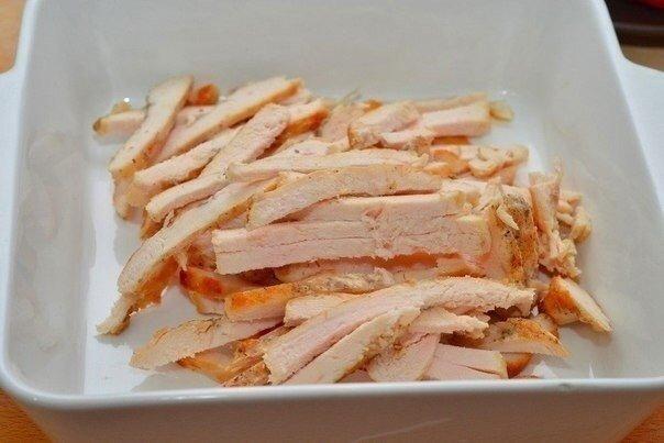 Салат из курицы Ингредиенты: Куриная грудка — 2 шт. Помидор — 2 шт.