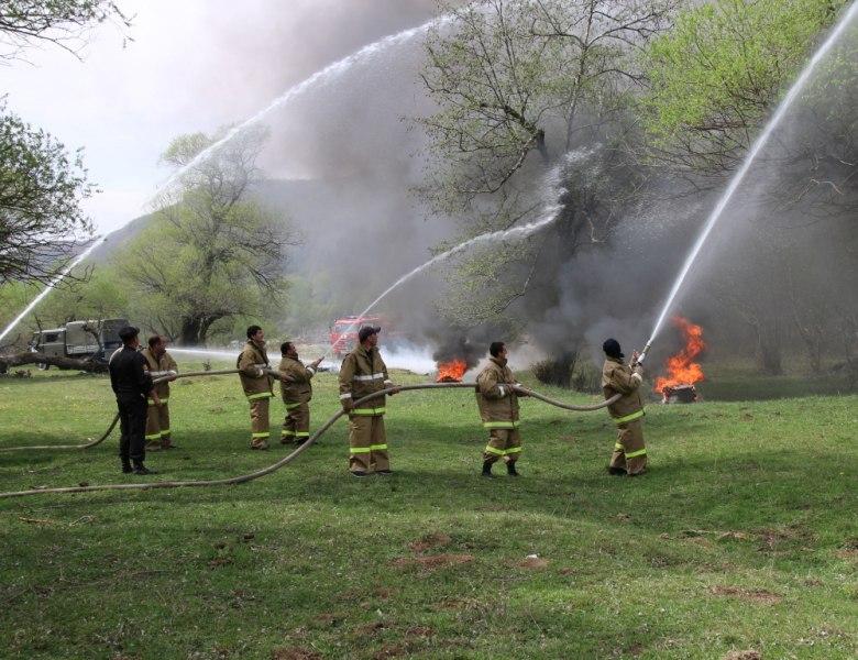 В станице Сторожевой прошли пожарно-тактическое учения