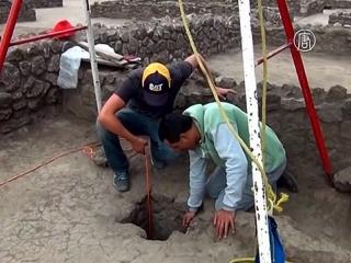 Мексика: в каменной цистерне нашли останки ацтека