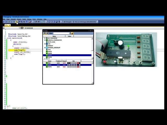 Микроконтроллеры avr для начинающих Урок 2 Atmega