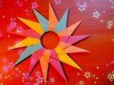 DIY. How To Make Christmas Star. Paper Big Shuriken. Origami For Children. Christmas Craft Tutorial