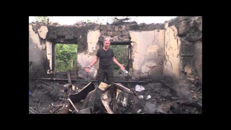 (RUS СУБ) Репортаж Донецк: Множество домов повреждены тяжёлым Украинским обстрелом Кировского р-н