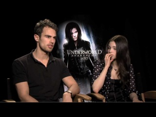 India Eisley & Theo James talk Underworld Awakening - JoBlo.com