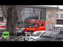 Германия: Розенхайм больница получает жертв железнодорожной катастрофы Бад-Айблинг.