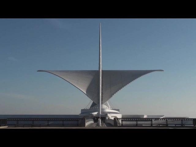 Time Lapse: Milwaukee Art Museum - Calatrava - Burke Brise Soleil - HD