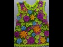 Irish lace Уроки вязания крючком ирландского кружева Детское платье 5йУрок цветок НЕЗАБУДКИ