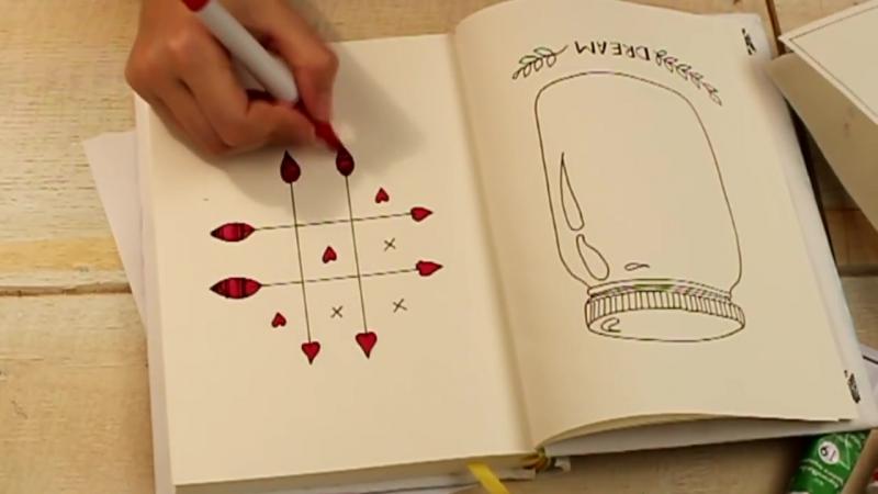 Как украсить тетрадь своими руками с алёна венум 96