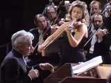 И.С. Бах концерт для скрипки №2 Ми-мажор,  Герберт фон Караян, Анна-Софи Муттер (скрипка)