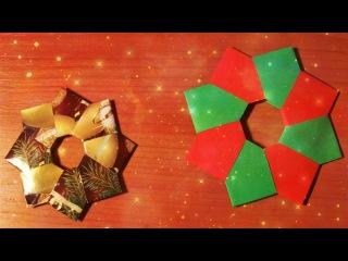 Неприлично Простые Поделки На Елку Из Бумаги. Как за 3 Минуты Сделать Игрушку. DIY Easy Paper Crafts