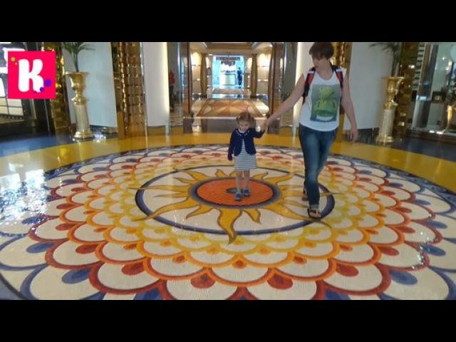 Мисс Катя в Дубаи День 1 на пляже и в бассейне подарочки от отеля Dubai 1 st Day in Burj Al Arab Hotel Видео Dailymotion