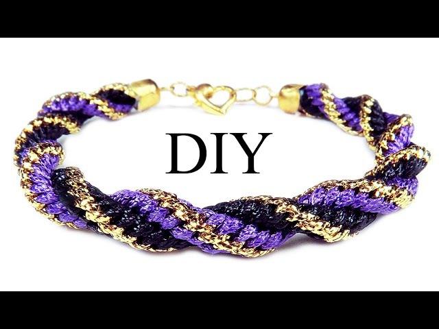 DIY: Kumihimo spiral friendship bracelet / Браслет Кумихимо спиральный из 12 нитей