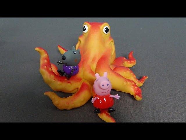 Peppa Pig en español. Peppa y el señor pulpo. Peppa Cerda y sus amigos en el patio de recreo
