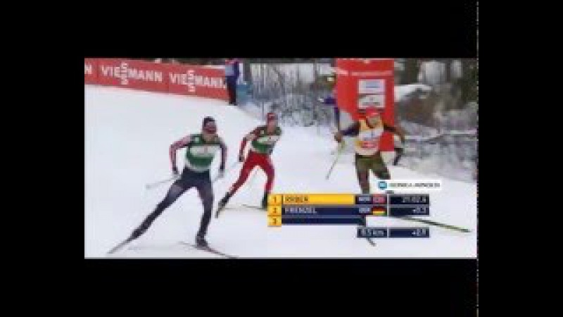 Nordic Combined Skiing 2016 Lahti Riiber lost the title of winner and disqualified Winner FRENZEL