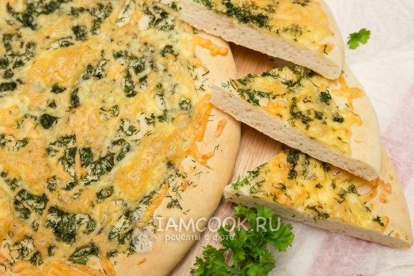 Рецепт лепешек с сыром и зеленью на сковороде с пошагово