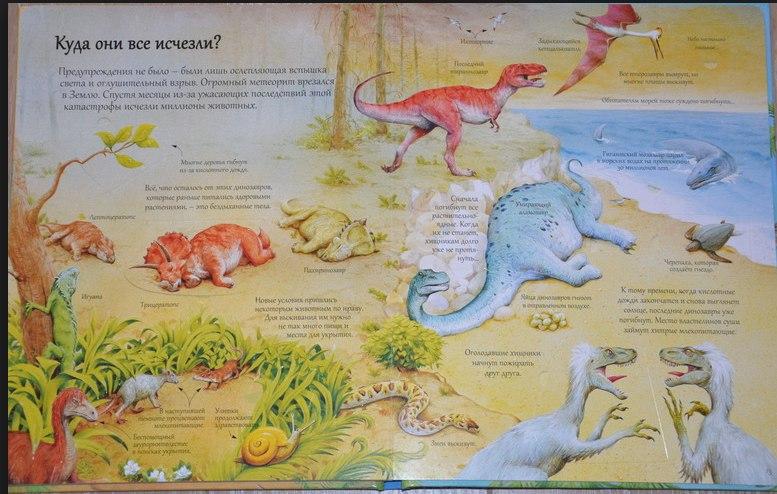 книга с секретами о динозаврах доисторических животных для детей