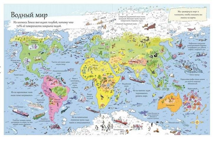 большая картонная книга с окошками про экологию для детей