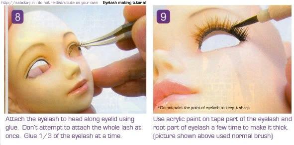 Как сделать ресницы своими руками для кукол