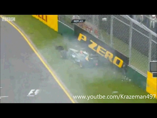 Карун Чандхок | Первая Ф1 ававрия в 2011г(1st F1 crash 2011) | HD