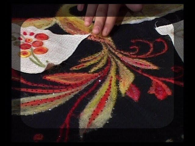 Секреты изготовления аппликаций из шерсти. Приемы золотного шитья. Мастер класс