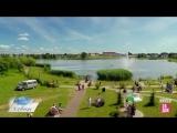 Город Глубокое с высоты (съемка с помощью квадрокоптера)