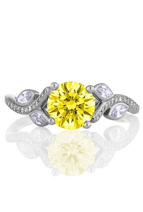 pp0  yDd2HY - 30 ослепительных брачных колец с желтыми бриллиантами