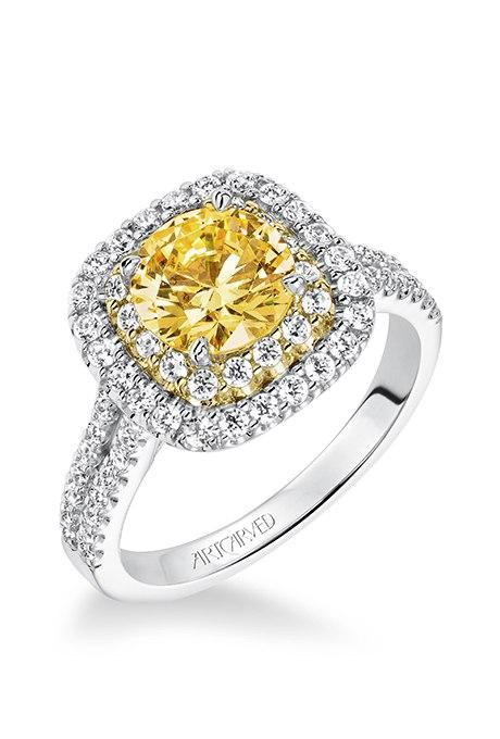 Ведущий на свадьбу Волгограда: 30 ослепительных брачных колец с желтыми бриллиантами