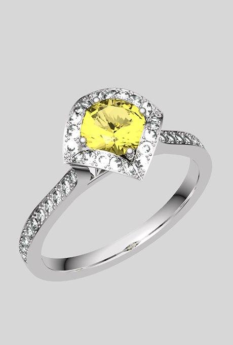 w13Q3mRgG o - 30 ослепительных брачных колец с желтыми бриллиантами