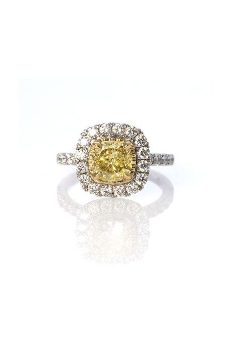 MKuBaCSwUiE - 30 ослепительных брачных колец с желтыми бриллиантами
