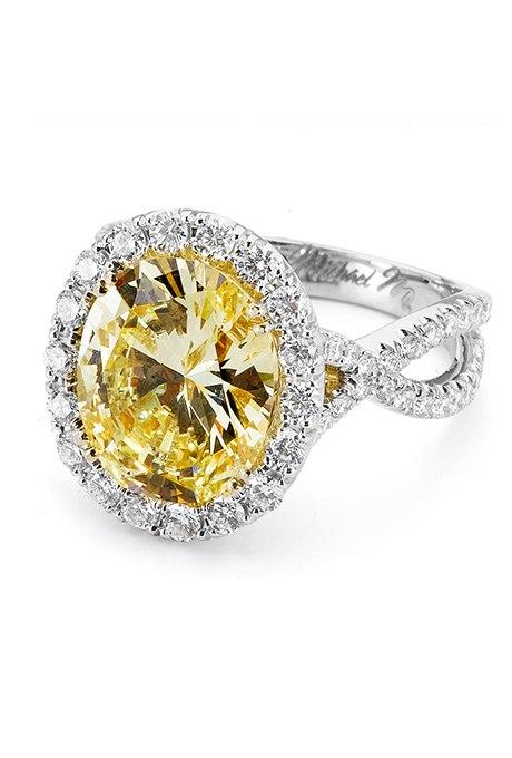 x8RB k618R0 - 30 ослепительных брачных колец с желтыми бриллиантами