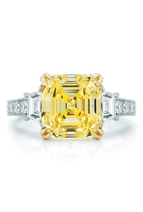 HaoL5AKFQKA - 30 ослепительных брачных колец с желтыми бриллиантами