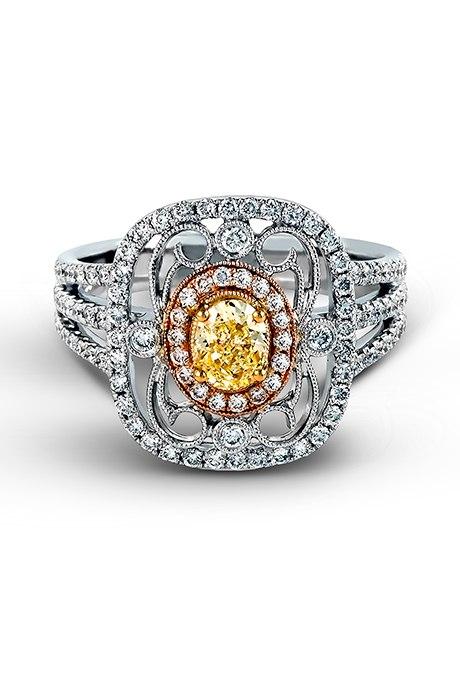 NUoO1jhDOm0 - 30 ослепительных брачных колец с желтыми бриллиантами
