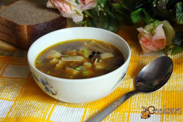 Сушеные грибы суп рецепт пошаговый фото
