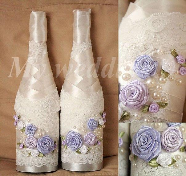 Бутылки на свадьбу с фото