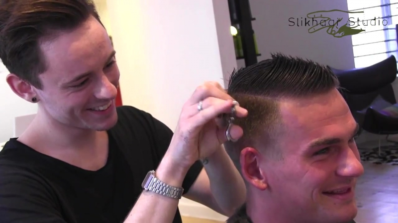 Slikhaar. Stolle from Paradise hotel 9 - men_s haircut - 2013 new inspiration cut for men_s hair.