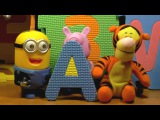 Учим Азбуку. Буква А. Весёлые игрушки учат алфавит. Развивающий кукольный мультик для детей