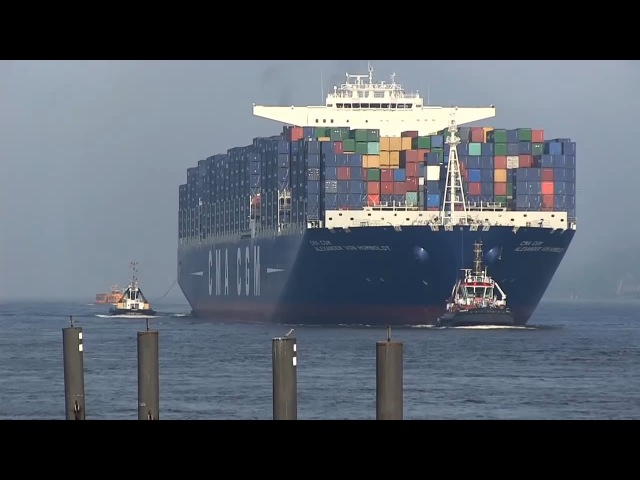 CMA CGM Alexander Von Humboldt ex Largest Container Ship Port of Hamburg 2013 28th May