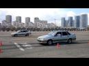 Сравнение тормозных путей при торможении юзом и на грани блокировки колес