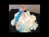 How To Make A Elsa Barbie Doll Cake- Frozen Cake Decorating