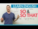 Learn English Grammar: How to use SO SO THAT
