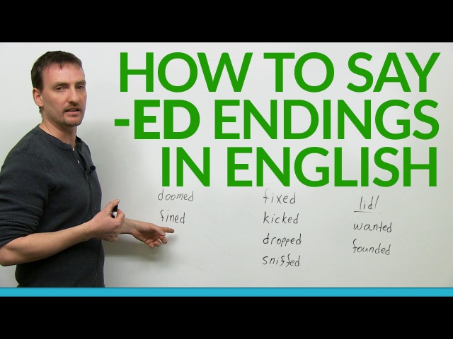 How to say -ed endings in English