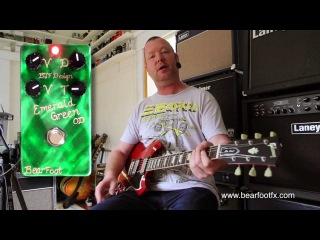 BearFoot FX : Emerald Green Overdrive - Low Gain - demo with SG