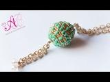 DIY Tutorial Agape Bead (beaded bead) + Auguri di Natale con la mia brutta faccia p