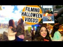 Filming Halloween Videos! IF LIFE WAS A SCARY MOVIE (Behind the Scenes) NYC