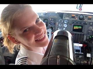 ♥♥♥♥♥♥ Girl pilot flying a Gulfstream jet. Takeoff, alternator failure landing.