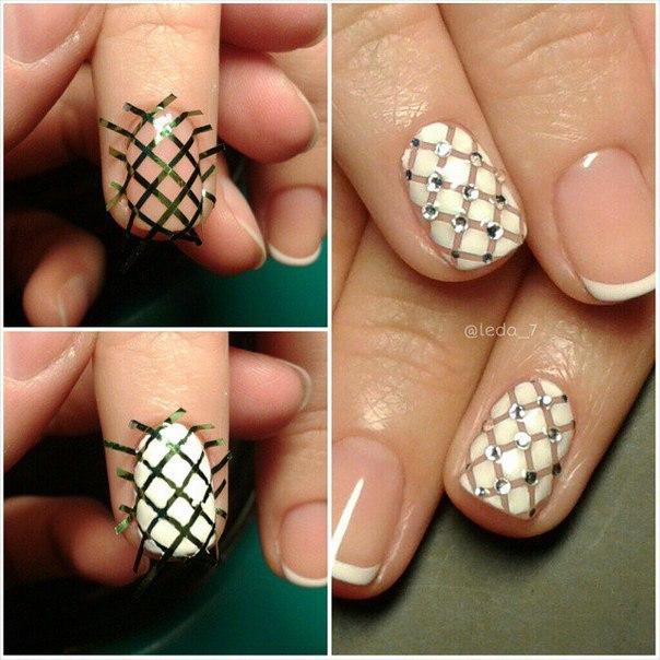 Дизайн ногтей с лентой видео