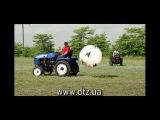 Трактор ДТЗ. Игра в футбол тракторами
