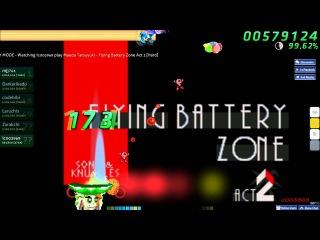 Walkthrough Osu (CTB) beatmap Flying battery zone act 2 [Hard] - (Without mods)