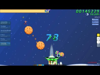 Walkthrough Osu (CTB) beatmap Kevin MacLeod - Oh, Christmas tree [Hard] - (Without Mods)
